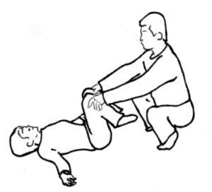 膝曲げ検査