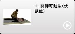 1.開脚可動法(伏臥位)