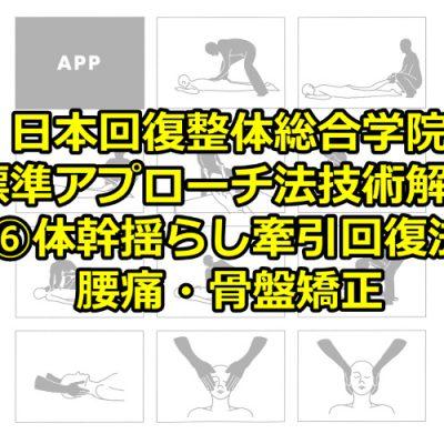 ⑥体幹揺らし牽引回復法(腰痛・骨盤矯正)