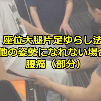 座位大腿片足ゆらし法/他の姿勢になれない場合/腰痛(部分)