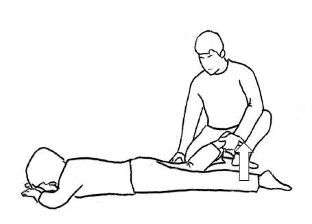 施術者の身体を近づけて回復を掛ける位置を決める。